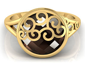 3D printable model Brown Stone Ring
