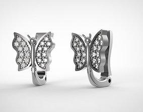 butterfly earrings for 3D printable model