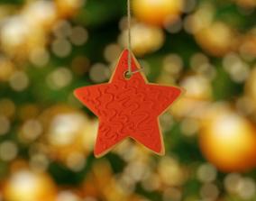 3D asset Christmas star 2