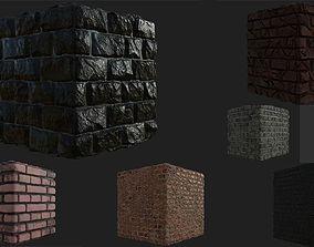 Brick Wall materials 3D model