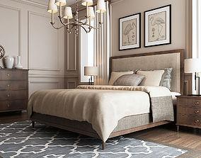 Rustic Bedroom 025 3D model