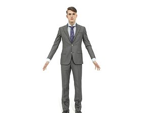 3D model Full-body business man and woman pack