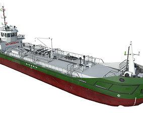 TANKER DWT800 Low-poly Green 3D asset