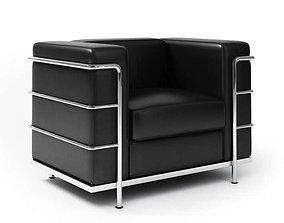 Modern Metal Black Armchair 3D model