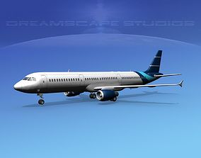 3D Airbus A321 Corporate 3