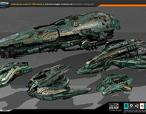 Spaceships Vol-11 3D asset realtime
