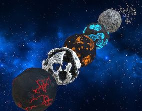 Pack of dead planets 3D