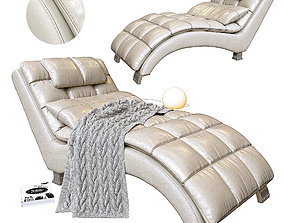 3D Chaise longue leather 1811 W