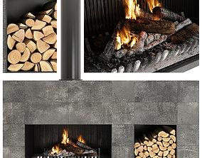 Fireplace 3D minimalism