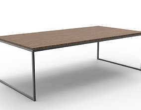 Table wood 3D asset VR / AR ready