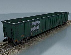 rail wagon 6 3D asset
