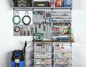 garage tools set 11 3D model