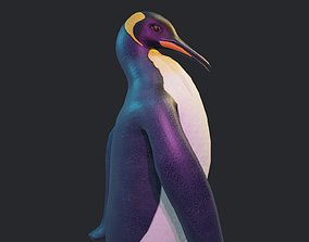 3D model Emperor Penguin - Animated Low-Poly