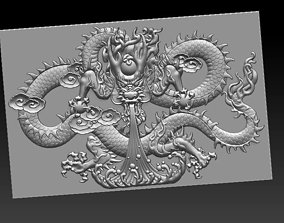 dragon 3D model relief