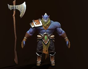 character ork 3D asset game-ready