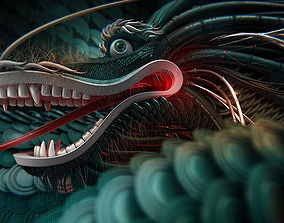 3D Chinese Dragon head