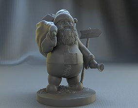 christmas 3D printable model santa claus