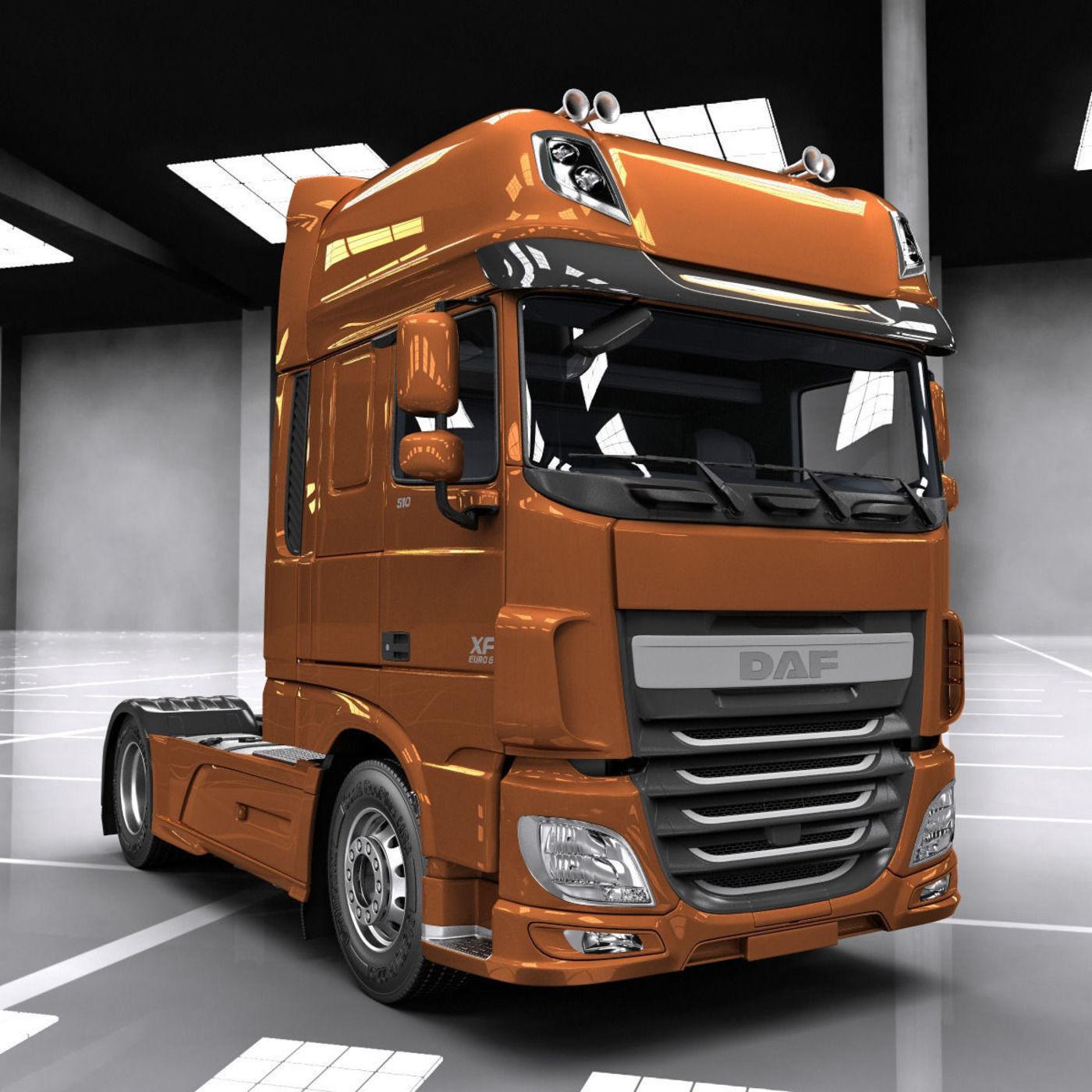 DAF XF Euro 6 | CGTrader