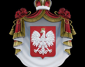 3D printable model crown Coat of arms