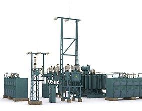 electric station details 3D asset
