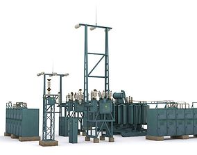 electric station details 3D model