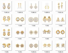 Collection 147 Women Earrings 3dm jcd render