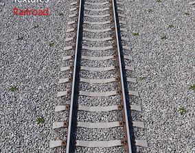 Ultra realistic Railroad 3D model