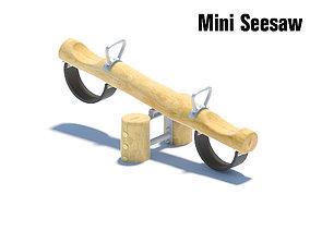 3D model Wooden mini seesaw for small children