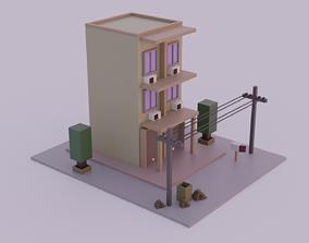 VR / AR ready Shophouse Thai style 3D model