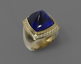 Ring With Sapphire 3D printable model
