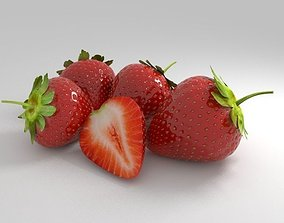strawberry blueberry 3D