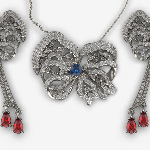 jewelry set pendant earring
