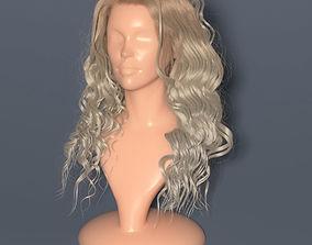 Blondie curly hair in Vray render 3D
