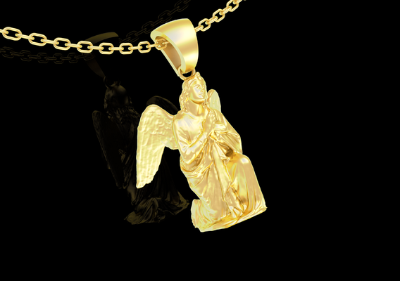 Angel Clasp Hand Pendant jewelry Gold 3D print model