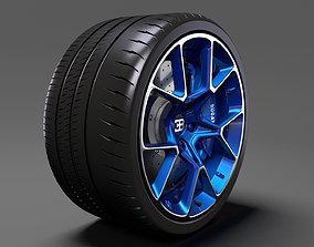 Bugatti Chiron wheel 5 3D