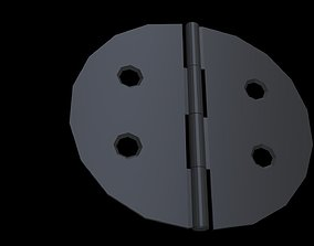 3D asset Low poly Hinge 4