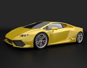 Lamborghini Huracan racing car restyled 3D