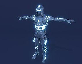 3D Sci Fi Assassin Robot