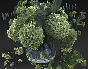 Hydrangea bouquet 3D model