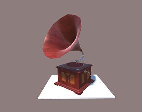 Old Vintage Gramophone 3D asset