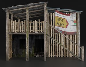 SLUM HOUSE REALISTIC PBR OLD RUINED 3D model