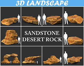 3D Low poly Yellow Sandstone Desert Pack 200209
