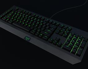 Keyboard 3D asset rigged