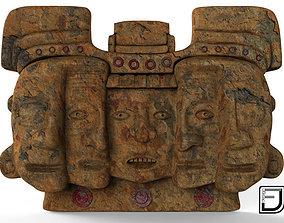 3D model Mayan Mask Three Stages Of The Life