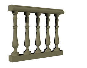 baluster autocad dwg 3d model for architecture interior