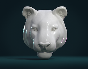 Tiger Head II 3D print model