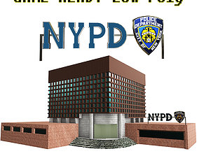 low-poly NYPD Police Station Game Ready Low poly PBR 3D