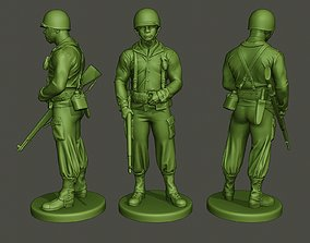 3D printable model American soldier ww2 stand guard A5