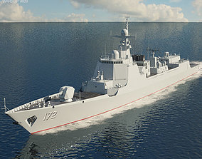 3D Type 052D destroyer