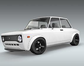 Custom 1973 Fiat 128 Rally 3D model